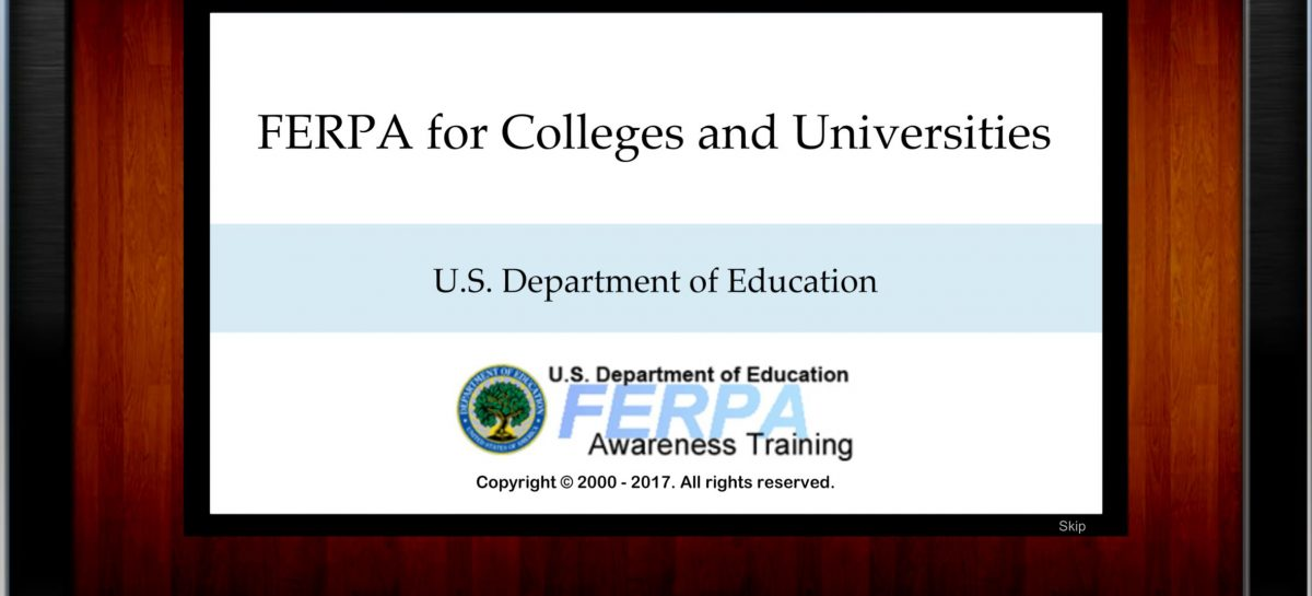 FERPA 101 for Colleges & Universities