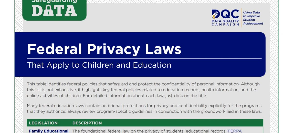 Federal Privacy Laws that Apply to Children and Education