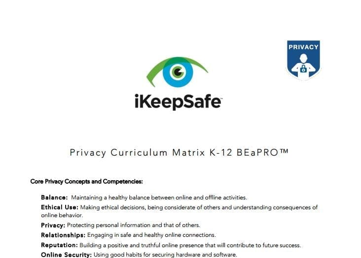 K-12 Privacy Curriculum Matrix for Students