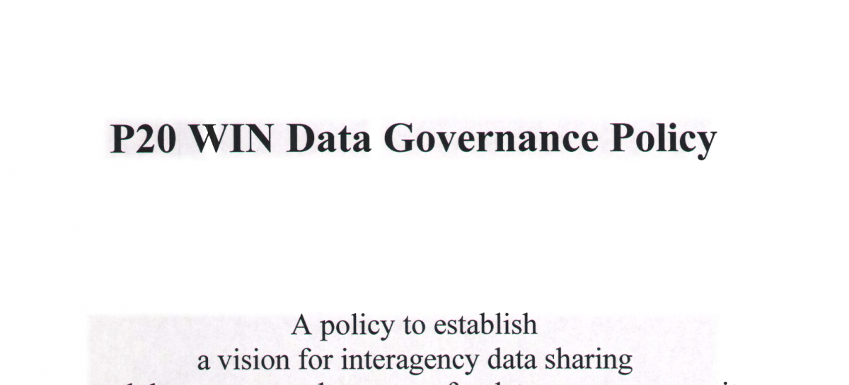 P20 WIN Data Governance Policy