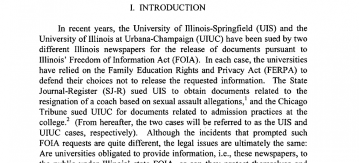FOIA vs. FERPA/Scalia vs. Posner